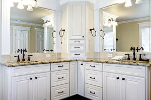 Master bathroom cabinet refacing